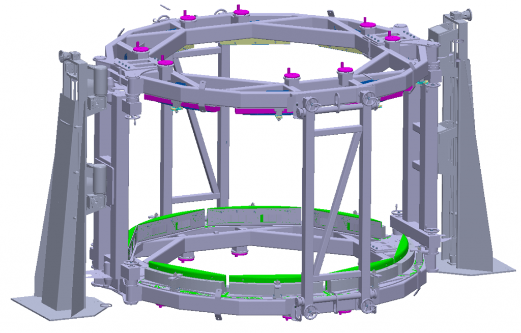 Satellite Turnnover Assembly